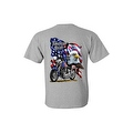Men's T-Shirt American Pride Motorcycle USA Flag Bald Eagle Biker Chopper Tee - Thumbnail 7