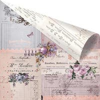 """Lavender Rose Gold Foiled Double-Sided Cardstock 12""""X12""""-Through The Years"""