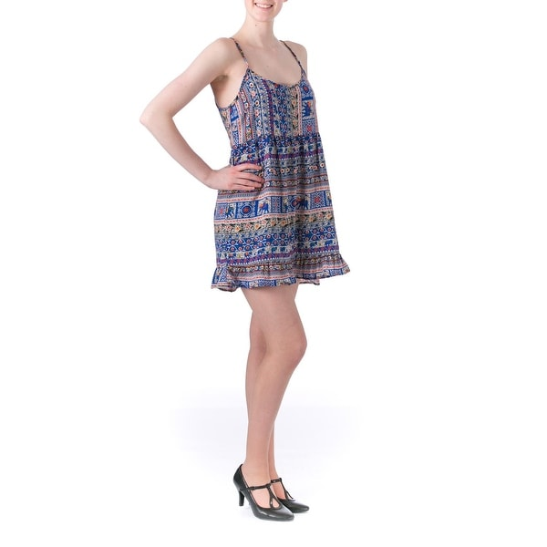 One Clothing Womens Juniors Babydoll Dress Summer Lightweight