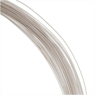 Beadalon Silver Filled Wire, Half Hard / Half Round 21 Gauge Thick, 0.5 Ounces, Silver