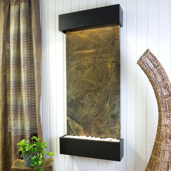 Classic Quarry Nojoqui Falls Wall Fountain Finish Black Onyx