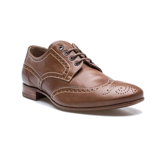 Prada Men's Oxford Wingtip Lace Up Dress Shoes Leather Boot Cork Brown