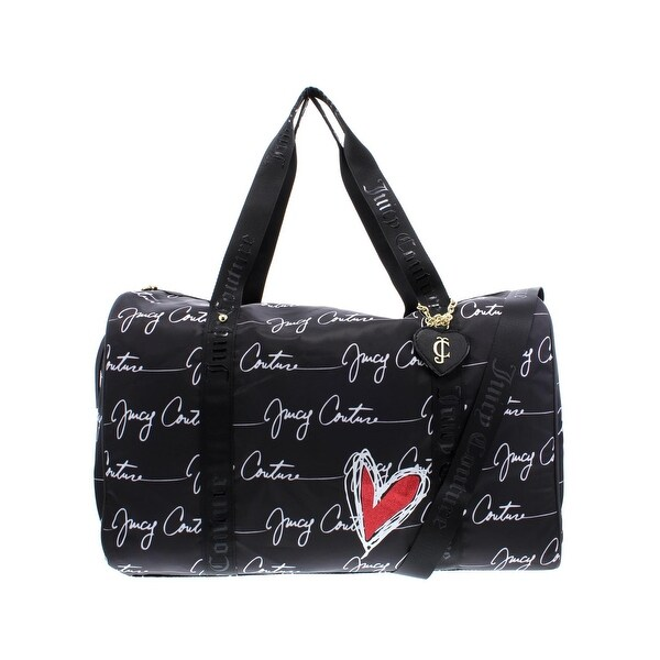 Juicy Couture Womens Love Letter Weekender Handbag Nylon Convertible - LARGE a539845df
