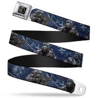 Halo Office Of Naval Intelligence Seal Full Color Black Silver Spartan Iv Seatbelt Belt