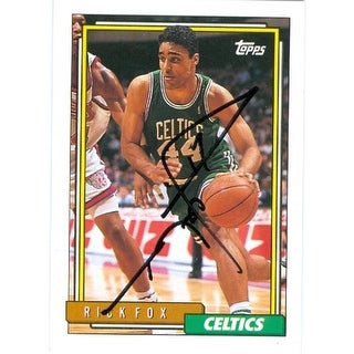 Rick Fox Autographed Basketball Card Boston Celtics 1992 Topps No