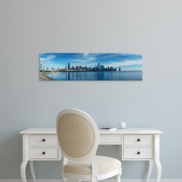 Easy Art Prints Panoramic Images's 'Skylines at waterfront, Lake Michigan, Chicago, Cook County, Illinois' Canvas Art