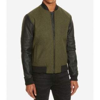 Kenneth Cole Reaction NEW Green Mens Size Medium M Colorblock Jacket