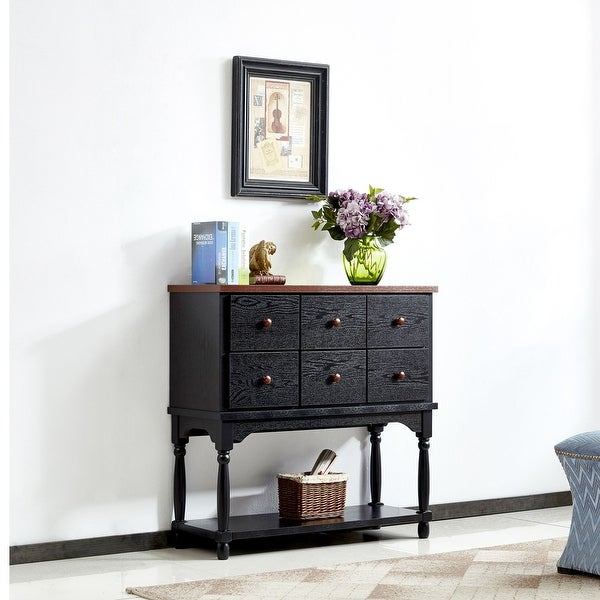 36.22'' Wide 6 Drawer Buffet Table