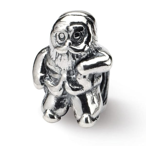 Sterling Silver Reflections Santa Claus Bead (4mm Diameter Hole)