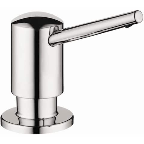 Hansgrohe 04539 Contemporary Soap Dispenser with 16 oz Bottle Capacity