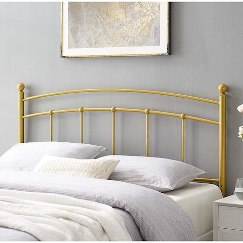 Tyler Arched Full Size Gold Metal Headboard