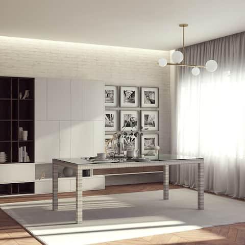 Midtown Concept Indoor Dining Table Kitchen Dinner Table Indoor Outdoor Living Room Décor - Wicker