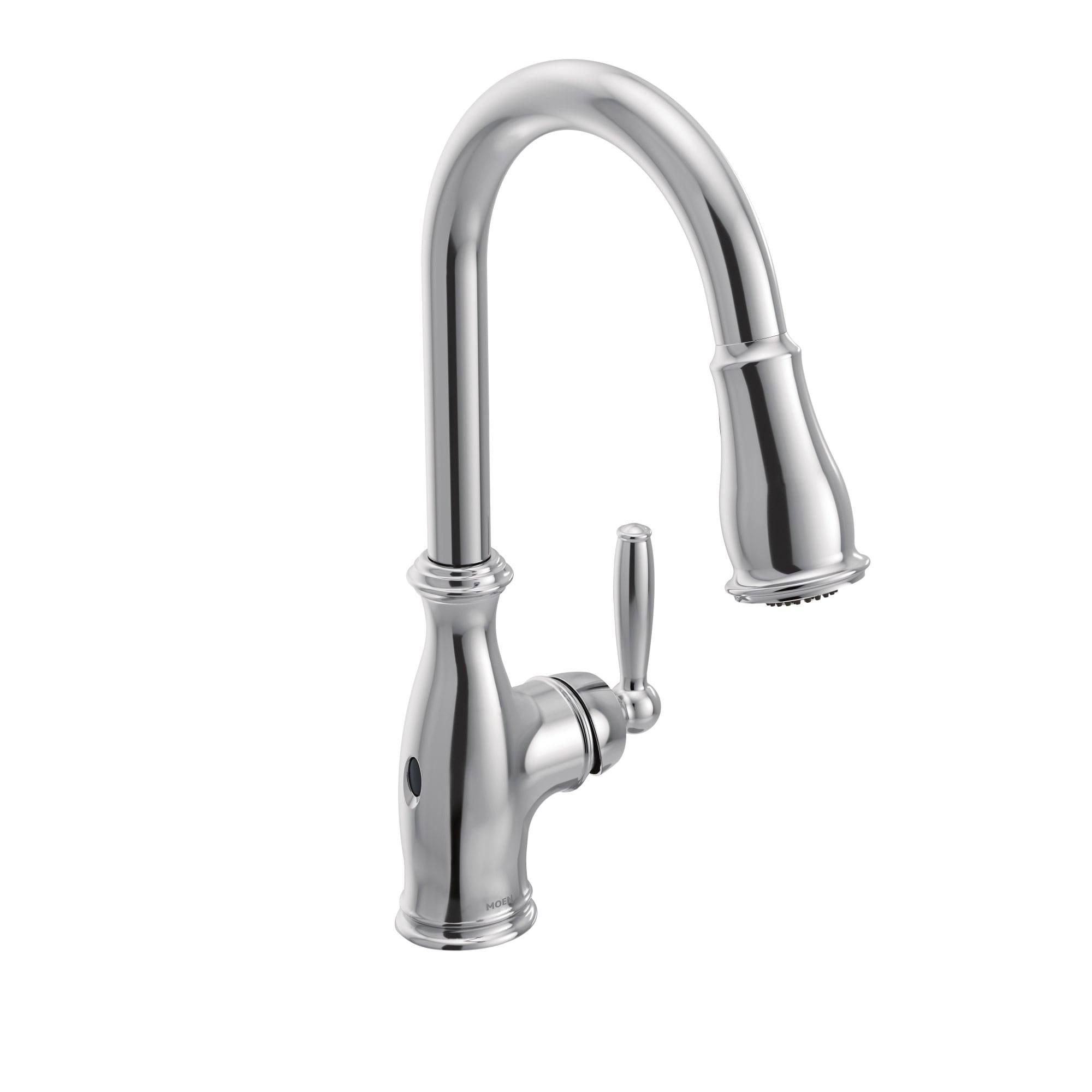 Moen 7185ew Brantford 1 5 Gpm Single Hole Pull Down Kitchen Faucet With Duralast Duralock Motionsense Powerclean And Reflex