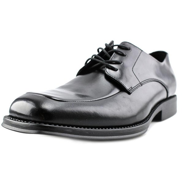 Kenneth Cole Reaction Sim-Plified Men Square Toe Leather Black Oxford