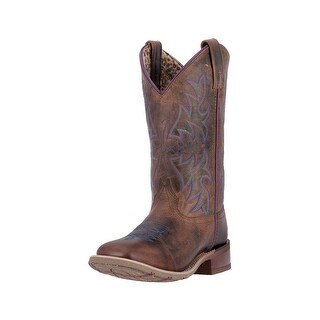 Laredo Western Boots Womens Ellery Stitched Square Toe Rust