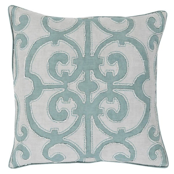 "18"" Princess Dreams In Shades of Cool Gray Decorative Throw Pillow"
