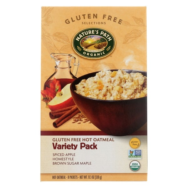 Nature's Path Organic Hot Oatmeal - Variety Pack - Case of 6 - 11.3 oz.
