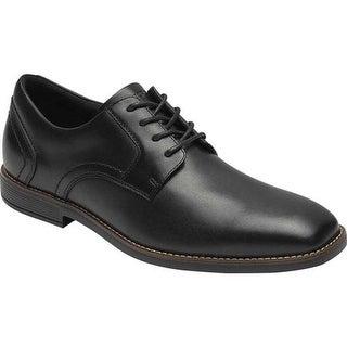 Rockport Men's Slayter Plain Toe Oxford Black Leather