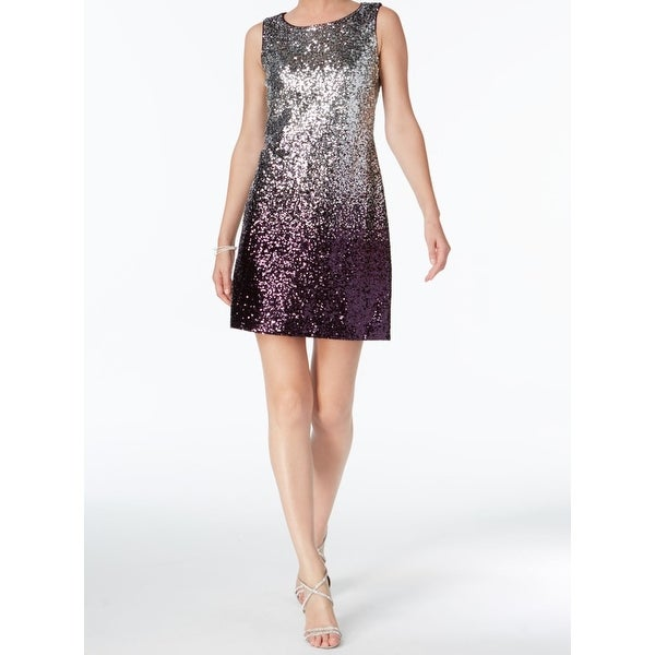 Shop Vince Camuto Silver Womens Size 10 Ombre Sequin A-Line Dress - Free  Shipping Today - Overstock - 21693570 9312933ede73