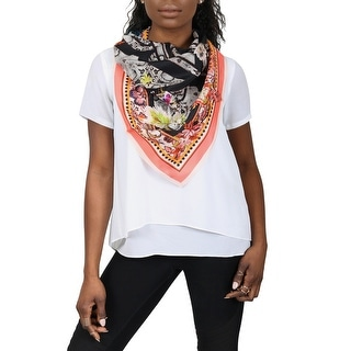 Link to Roberto Cavalli C3602C800 515 Coral Animal Print Scarf - 35-35 Similar Items in Scarves & Wraps