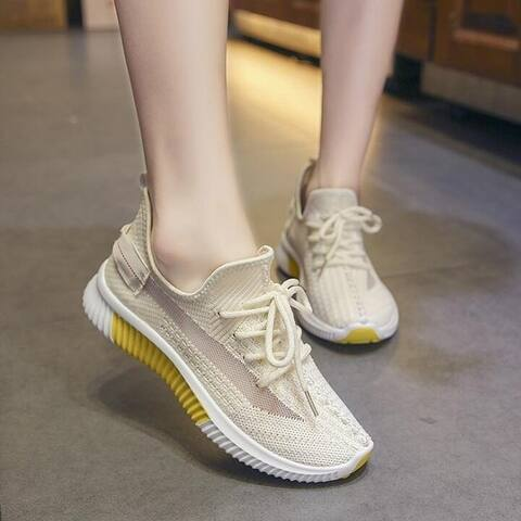 Mesh Woven Slip-On Sneakers In 4 Colors