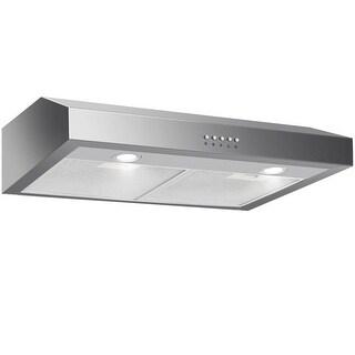 Gymax 30'' Under Cabinet Kitchen Range Hood Stainless Steel w/ LED lights 3-Speed 69W
