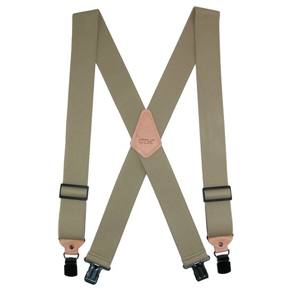 CTM® Men's Heavy Duty Clip-End Work Suspenders - One size