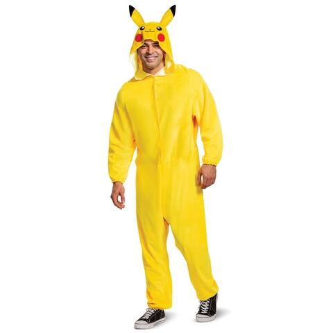 Disguise Pikachu Classic Adult Costume - Yellow/Black - Medium