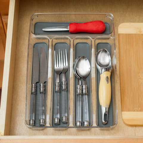 """9"""" x 12"""" Plastic Drawer Organizer with Rubber Liner"""