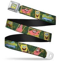 Sponge Bob Face Close Up Sponge Bob & Patrick Starfish Bamboo Frames Logo Seatbelt Belt