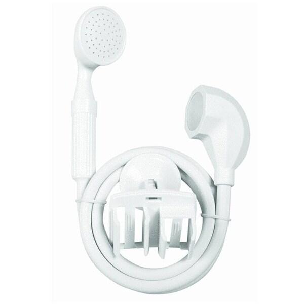 """Homz 4430101 Shower Sprayer Handheld, white, 9"""" H x 15"""" L x 3"""" W"""