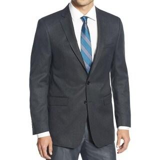 Calvin Klein Mens Two-Button Blazer Pattern Notch Collar