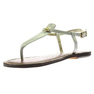 Sam Edelman Girls Gigi Charm T-Strap Sandals