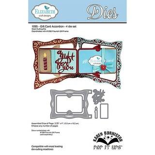 """Elizabeth Craft Pop It Up Metal Dies By Karen Burniston-Gift Card Accordion, 4""""X5.25"""""""