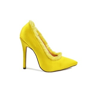 Chase & Chloe Frigned Pointed Toe Dress Pump