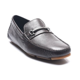 Bruno Magli Men's Leather Driving Shoes Loafers Brown