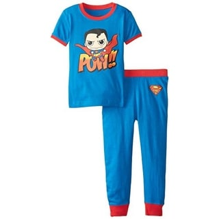 DC Comics Superman Pow Toddler Boys Banded Pajama Set