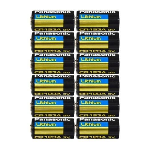 Panasonic CR123 CR123A 3V Lithium Battery x 12 Batteries