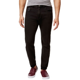INC International Concepts Jussie Drawstring Jogger Pants Black 40 Waist