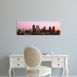 Easy Art Prints Panoramic Images's 'Skyscrapers in a city, Philadelphia, Pennsylvania, USA' Premium Canvas Art