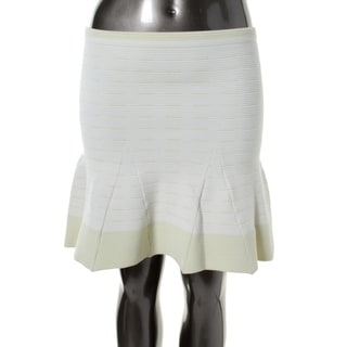 Timo Weiland Womens Textured Knee-Length Flare Skirt - XL