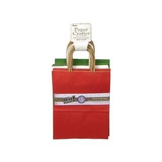 "Darice Paper Crafter Bag 8x10.25"" Val Pk Christmas"