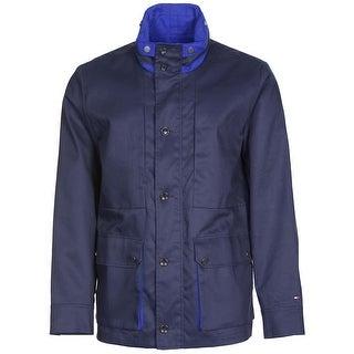 Tommy Hilfiger Franklin Hooded Field Jacket Navy Blue Large L