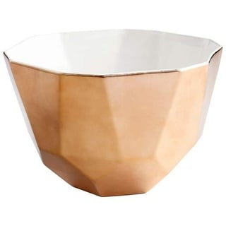 "Cyan Design 8482 Novus 7"" Tall Ceramic Decorative Bowl with White Interior"