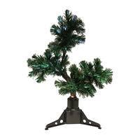 2' Pre-Lit Fiber Optic Bonsai-Style Artificial Pine Christmas Tree - Multi