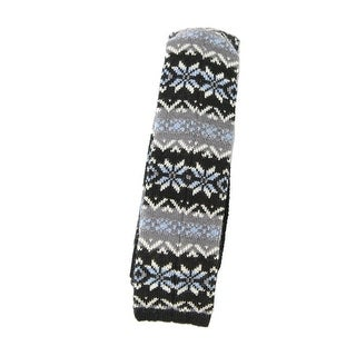 Bar III NEW Black Blue Mens One Size Holiday Fair Isle Knit Neck Tie