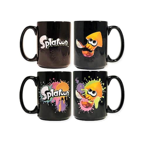 Splatoon Orange Squid Heat Changing 16oz Coffee Mug