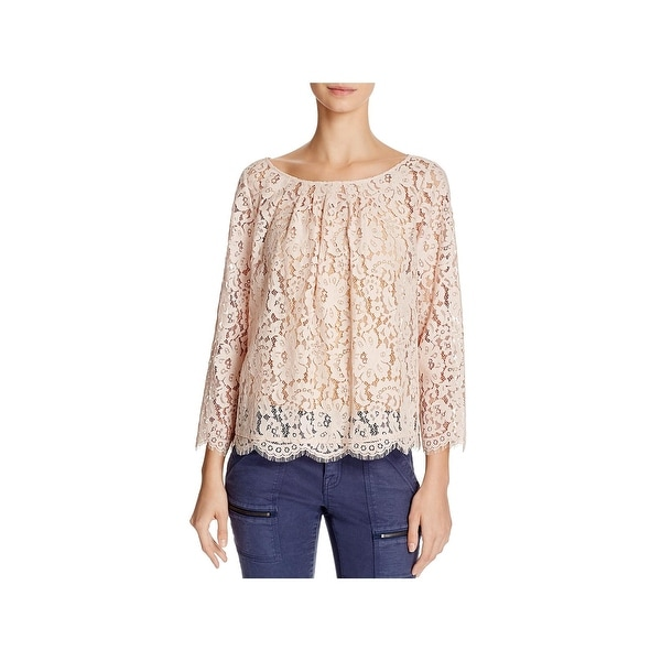b8d1452c03018 Shop Soft Joie Womens Cordella Blouse Lace Bow-Back - Free Shipping ...