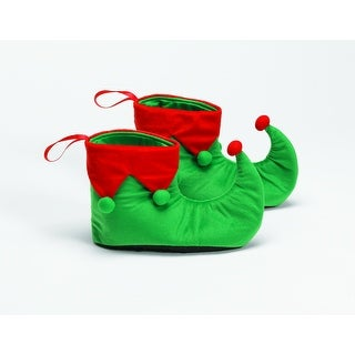 Link to Green and Red Velvet Christmas Elf Shoes – One Size Fits Most Similar Items in Christmas Clothing