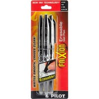 Pilot FriXion Ball Erasable Gel Pens 3/Pkg-Blk - Black